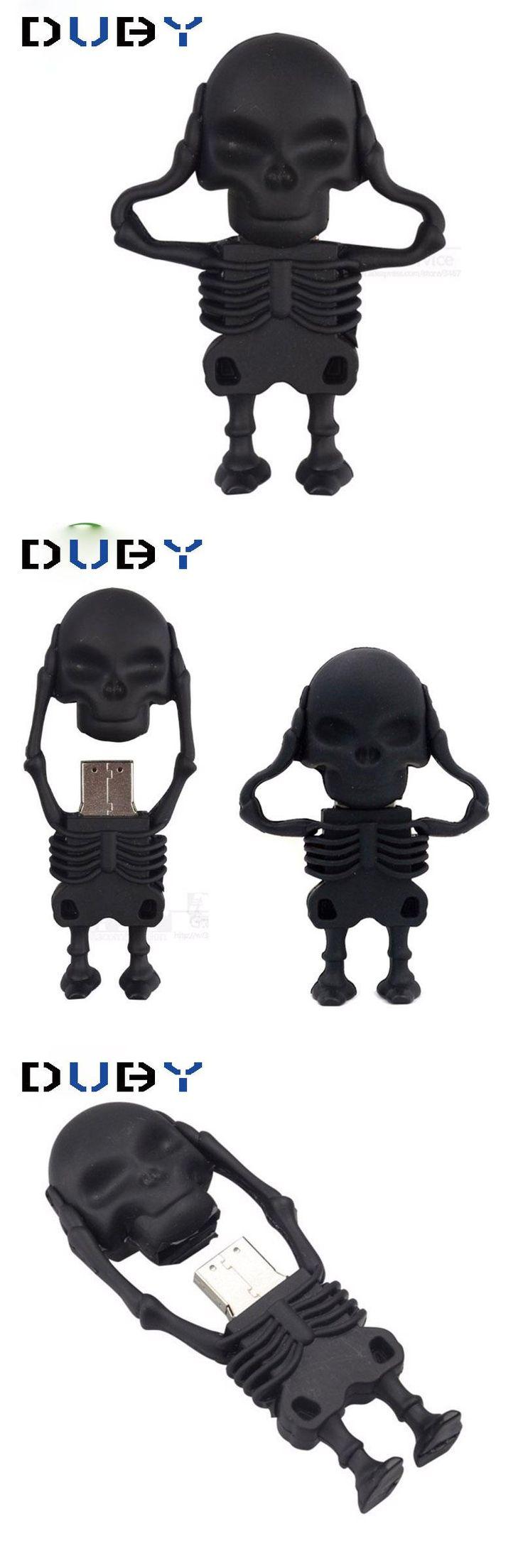 [Visit to Buy] Dr.memory USB Flash Drive Skeleton Pen Drive 16g/8g/4g skull model Memory USB Stick 32gb pendrive cute usb2.0 u disk 2016 new #Advertisement