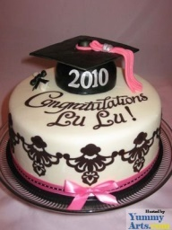 High School Graduation Party Ideas | graduation party ideas - pretty cake for the graduating young lady.