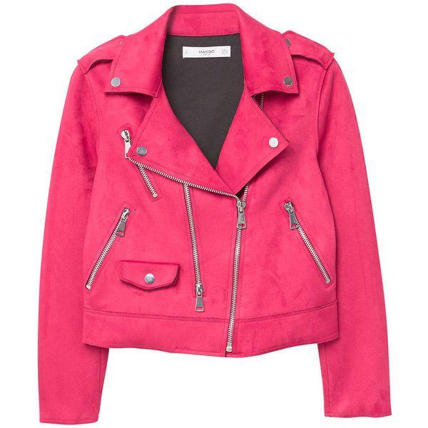 Zipped Biker Jacket (135 PEN) ❤ liked on Polyvore featuring outerwear, jackets, moto biker jacket, lapel jacket, zipper jacket, pink jacket and pink zip jacket