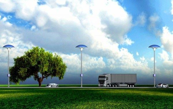 街灯の近未来。ソーラーシステムの次は空気清浄システムを搭載