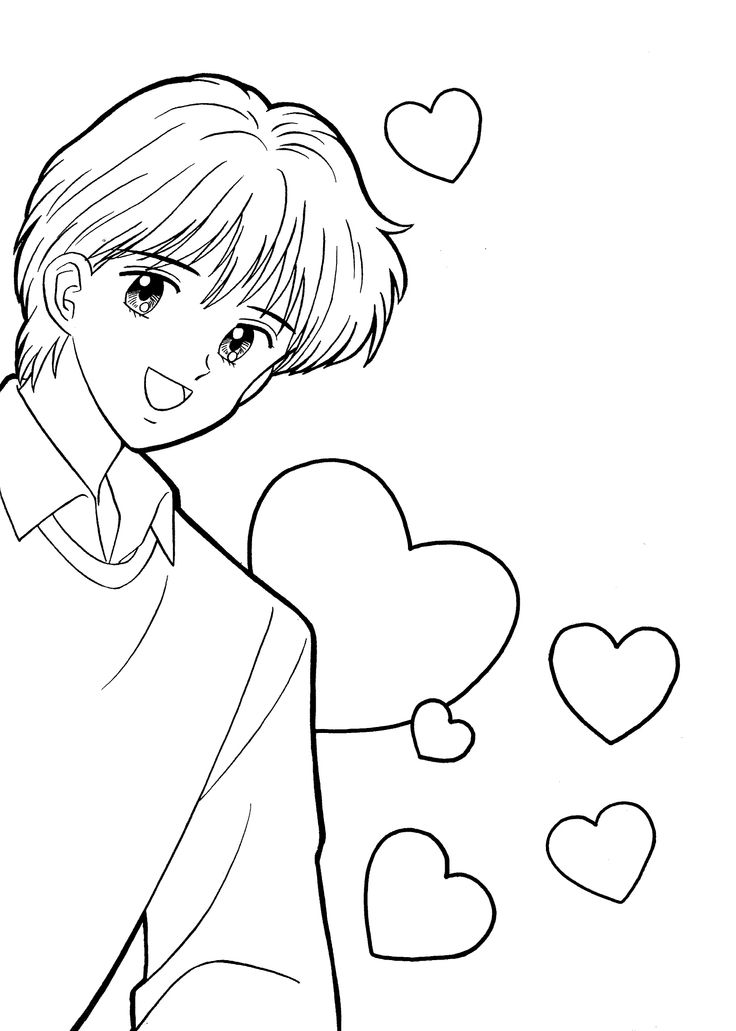 Yuu Marmalade boy coloring pages for kids, printable free