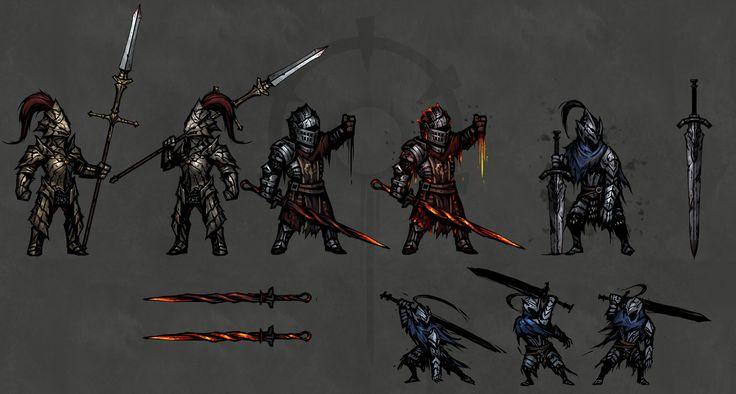 ArtStation - Darkest Dungeon—Dark Souls Skin MOD, lei wu