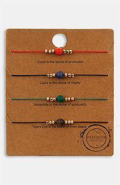 Topshop Mixed Bead Friendship Bracelets (Set of 4) | Nordstrom