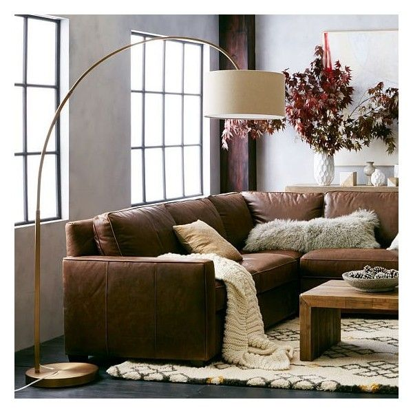 West Elm West Elm Cfl Overarching Floor Lamp, Antique Brass, Natural -... ($329) ❤ liked on Polyvore featuring home, lighting, floor lamps, arc floor lamp, antique brass lighting, contemporary lighting, contemporary arc floor lamps and antique brass light