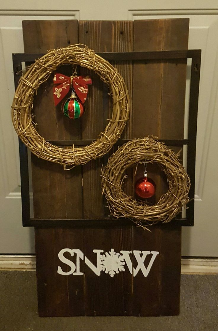 Huge SNOW sign, simplistic yet fun and cute. Wood is the way to go!!