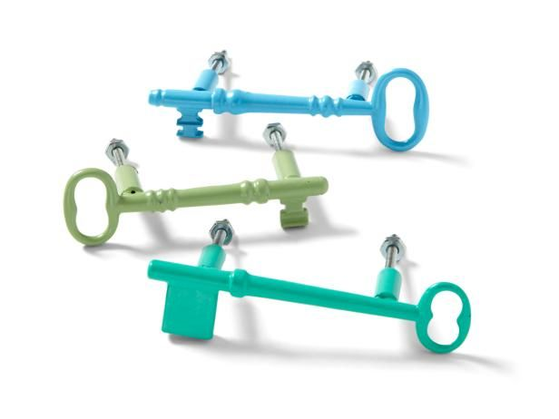 Turn skeleton keys you picked up at a yard sale into unique drawer pulls #hgtvmagazine #makeover http://www.hgtv.com/design/make-and-celebrate/handmade/how-to-painted-key-drawer-pulls?soc=pinterest