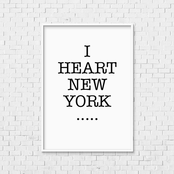 American Typewriter Print - Instant Download New York city loft apartment I love NY heart black white monochrome art artwork type typography by TheNotableType on Etsy https://www.etsy.com/listing/243485816/american-typewriter-print-instant