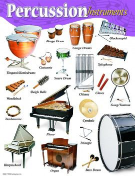 Percussion. I have played all of these except bongos and castanet