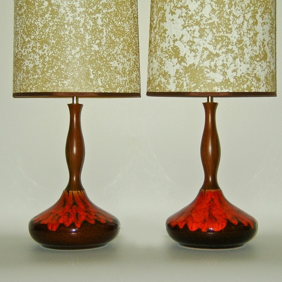 Mid Century Lamp Shades Gorgeous 467 Best Mid Century Lamp Shades Images On Pinterest  Vintage Lamps Inspiration Design