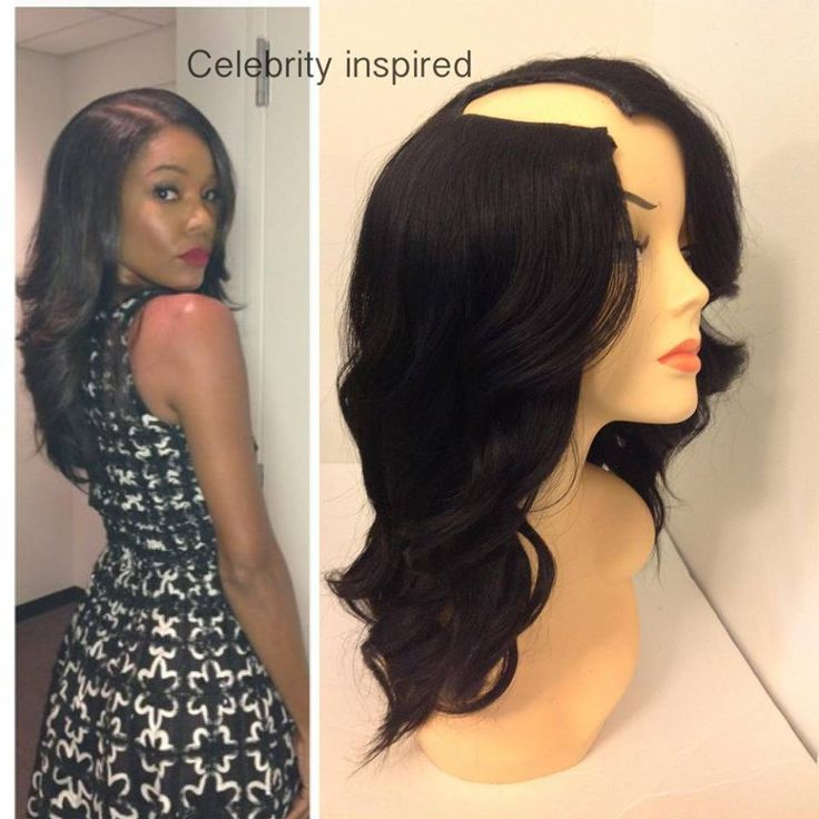 ... part look. This look can be achieved with a U-Part wig (pictured on