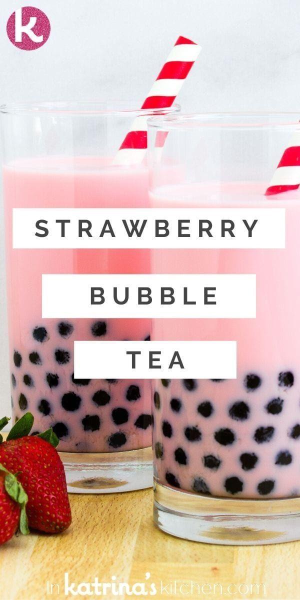 Strawberry Milk Tea Recipe, Strawberry Swirl Cheesecake, Cheesecake Strawberries, Strawberry Sauce, Boba Recipe, Chocolates, Milk Tea Recipes, Boba Pearls, How To Make Bubbles