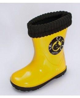 #Kalosze dziecięce, żółte, całoroczne, #Cayole