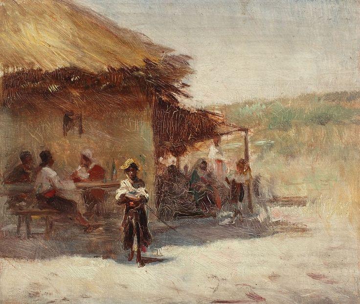 """""""Cârciuma din sat"""" Theodor Aman"""