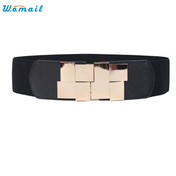 Amazing Fashion Lady Waistband Women Waist Belt Wide Stretch Elastic Wide Belt  Dress Accessories 4Colors