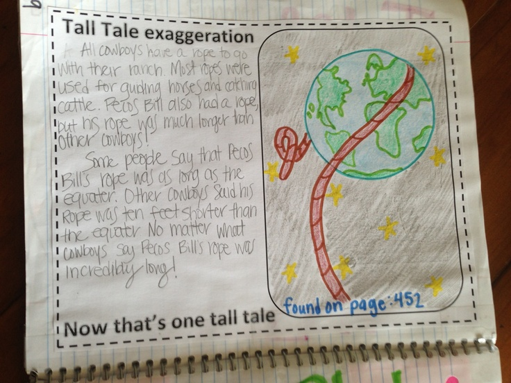 88 best tall tales images on pinterest tall tales teaching tall tale notes pronofoot35fo Gallery