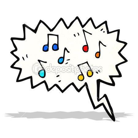 Hangjegyek rajzfilm — Stock Illusztráció #61146781
