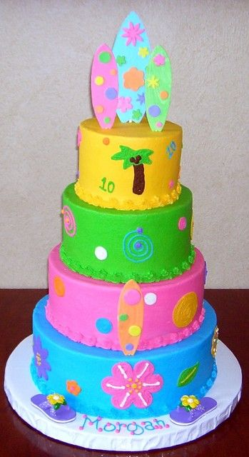 Cake Decorating Course Poole : 14 best images about Beach Birthday Cakes on Pinterest ...