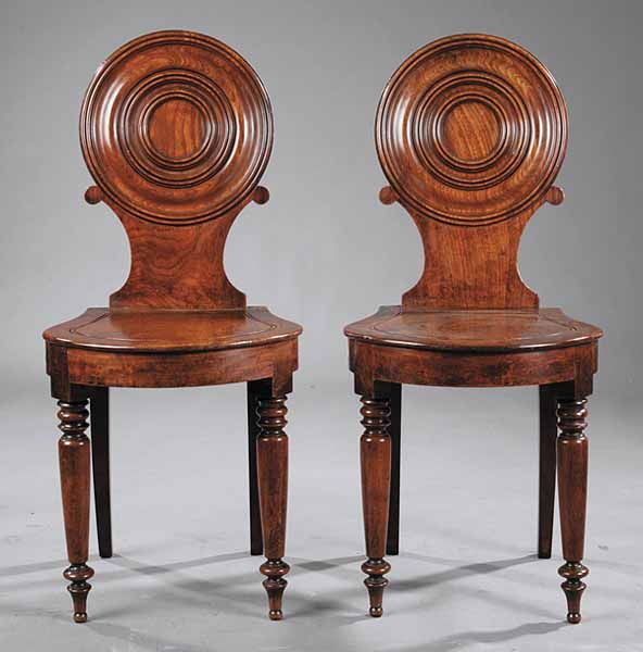 Regency Walnut Hall Chairs, early 19th c. - 24 Best The Hall Chair Images On Pinterest Hall Chairs, Antique