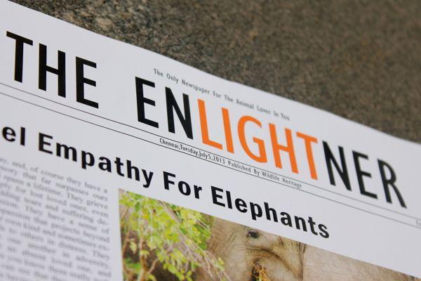 The Enlightner - Front Page of a tabloid by Vishnupriya Suresh, via Behance