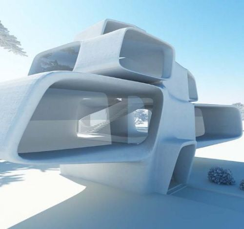 Futuristic House Design From HelloKarl. Why Does This Make Me Think Of Halo?
