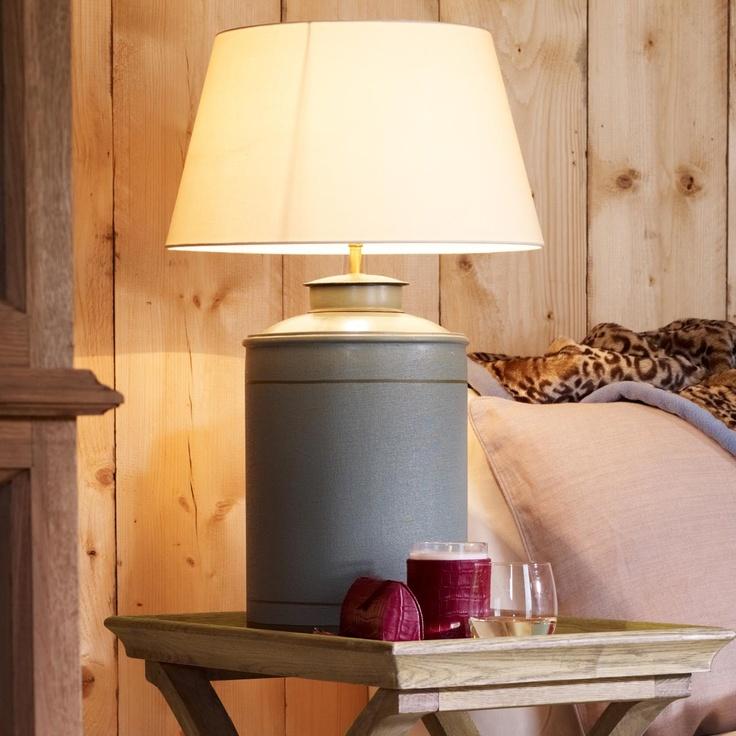 Camellia Handpainted Table Lamp - - Pale Blue #OKA #Furniture #Design