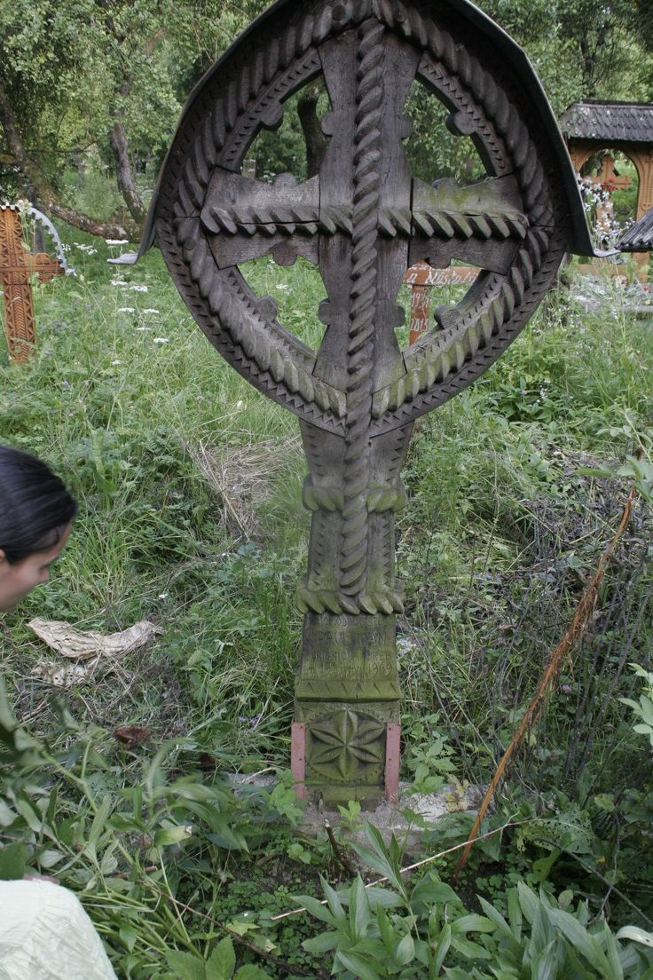 Cross in the old cemetery of Breb, Maramures