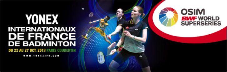 Yonex Internationaux de France de Badminton. Du 22 au 27 octobre 2013 à Paris16.