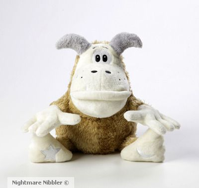 Meet Norbert the Nightmare Nibbler - the loveable Kidlutions award winning plush from the Nightmare Nibbler Nation designed to help kids manage their nighttime fears by gobbling them up! New children's picture book also available! www.nightmarenibbler.com
