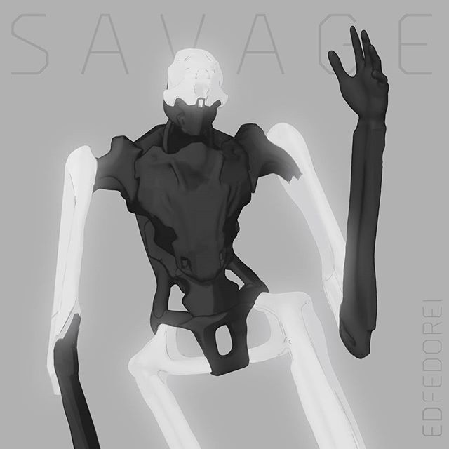 Savage #sketch #design #mech #robot #concept #art #3dcoat