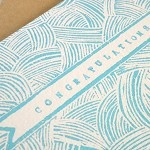Congratulations New Baby Boy Linocut Block Print Card - by AmeliaHerbertson on madeit