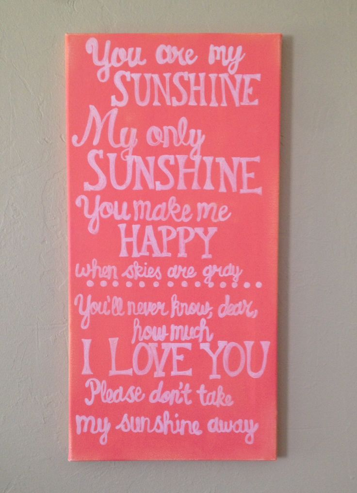 You are my sunshine canvas for nursery