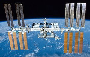 This is the International Space Station (ISS), and orbits the earth 16 times each day. It is located between 335 and 460 km above the Earth, and the ISS' construction began in 1998, when the first sector was put into orbit. Since then, the space...