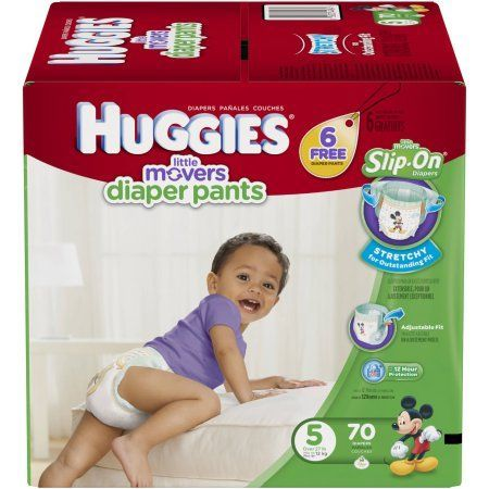 Huggies Little Movers Slip-On Diaper Pants, Size 5, (Choose Diaper Count)