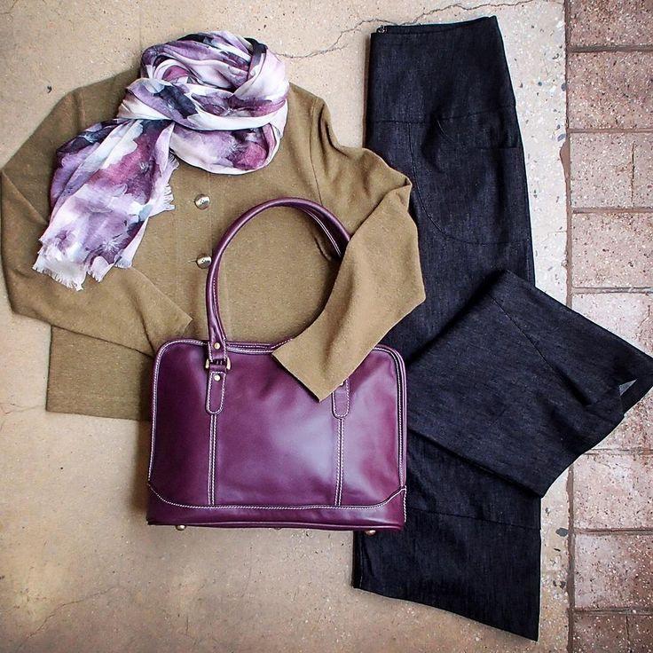 What's on for the weekend? @Starashan Kite Pants, @zeegaflinders Short Jacket,  @thescarfcompany.com.au Violets Scarf & Leather Cargo Diana Bag. Versatile, comfy, gorgeous ;) #naturalfibres #shopbendigo #lyttletonterrace #aussiemade #5iftyflatlay #flatlay