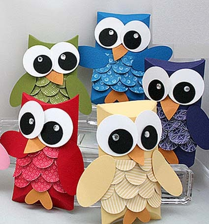 Pagina con muchos patrones de buhos: Crafts Ideas, For Kids, Owl Crafts, Owl Giftbox, Paper Owl, Gifts Cards Holders, Crafts Diy, Gifts Boxes, Crafty Ideas