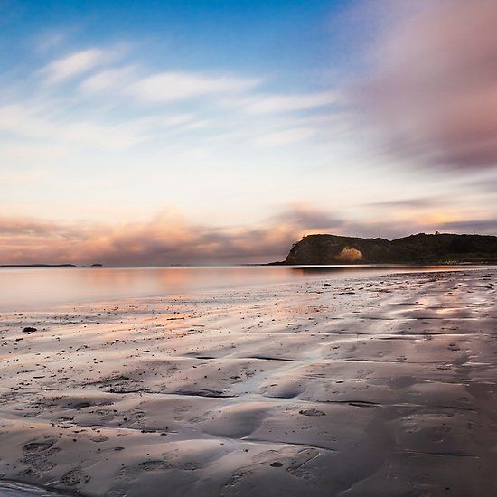 Flinders Sunset, pink, sunset, tranquil, beautiful, ocean, beach, low, tide, flinders, mornington peninsula, holiday