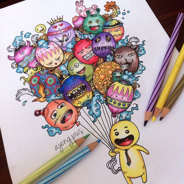 73 best Doodle Invasion Coloring Book Completed Pages Inspiration ...