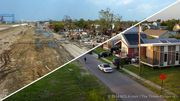 Really interesting: Drag your cursor (on a computer) or swipe your finger (on a phone or tablet) across each photo below. The 2005 Hurricane Katrina photo will dissolve into a picture from the identical vantage point nine years later. CANAL STREET...