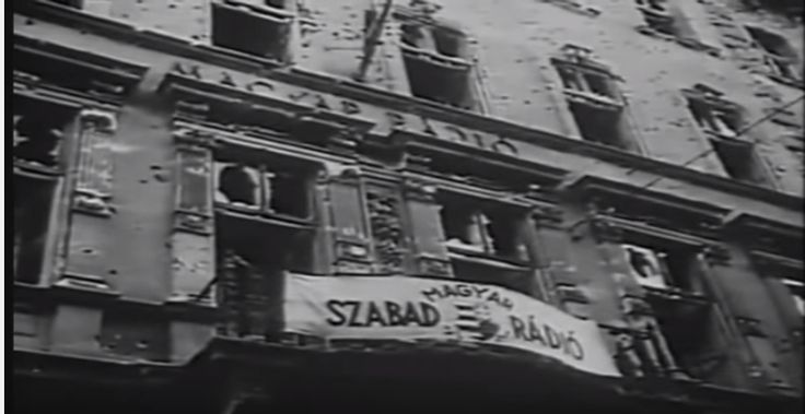 1956 Hungarian Revolution. The radio building.