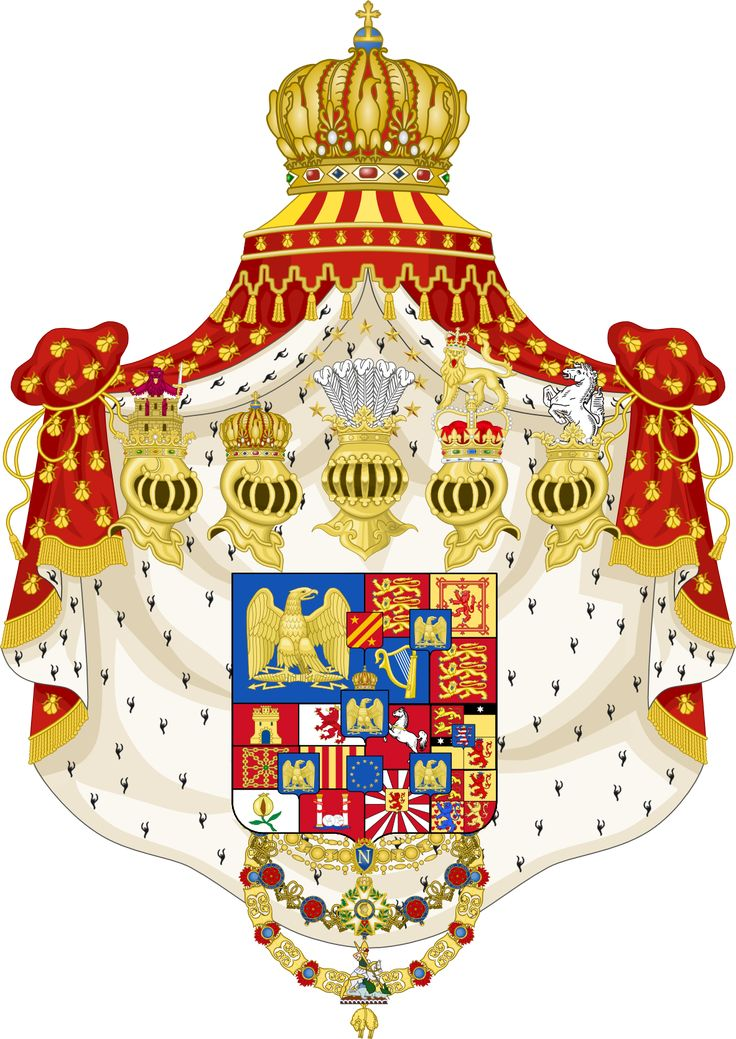 This is the coat of arms for the House of Bonaparte.  Whenever Napoleon conquered a country he gave the throne to a sibling.