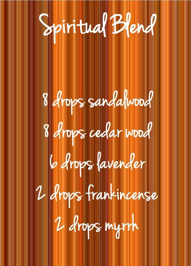Spiritual blend for your diffuser, try these Essential Oils, sandalwood, cedar wood, lavender, frankincense and myrrh. www.hayleyhobson.com