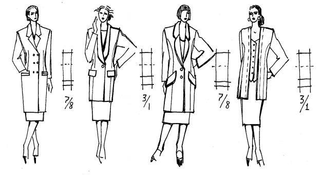Индивидуальный стиль в одежде (Конспект лекций): 3.3. Выбор композиционных и конструктивных решений одежды в зависимости от размеров и формы тела »