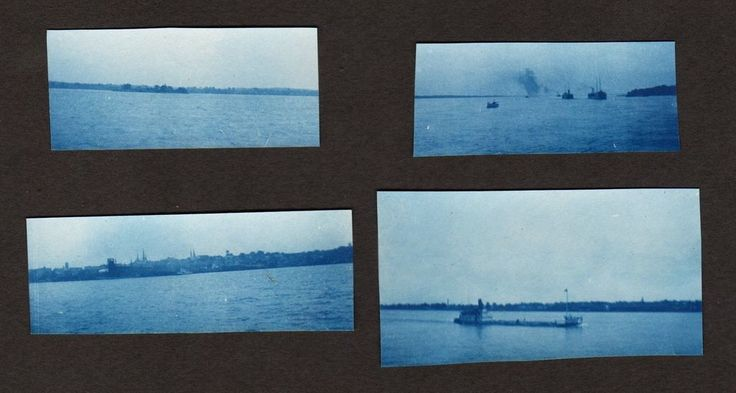 (4) c. 1895 DETROIT CITY/RIVER CYANOTYPE Photos