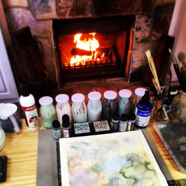 Work in progress: Inky fingers + crackling fire and a rainy day = happiness | Nellie Windmill
