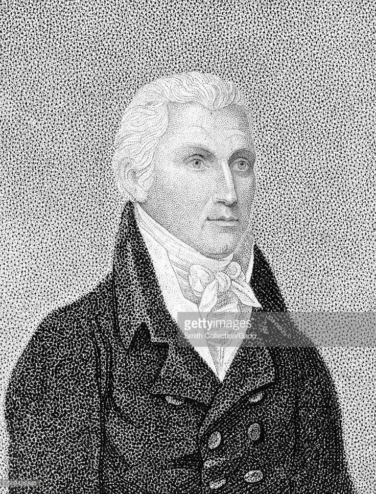 Engraving from a portrait of James Monroe, 1843. From the New York Public Library. (Photo by Smith Collection/Gado/Getty Images).