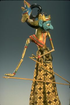 Photo by: Richard Termine Batara Brama; Indonesia; Wayang Golek; c. 1955. Wayang Golek is the only variety of round, wooden puppet found in Indonesia. Its use is confined to the western parts of Java. Gift of Nancy L. Staub. Permanent Collection.
