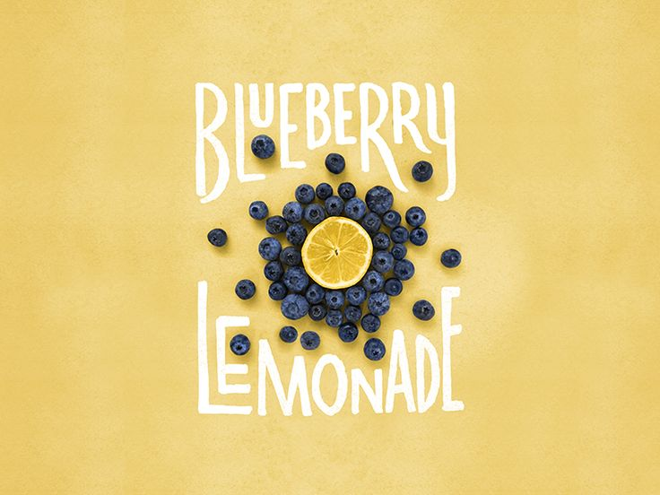 Blueberry Lemonade Lettering/Photo Published by Maan Ali