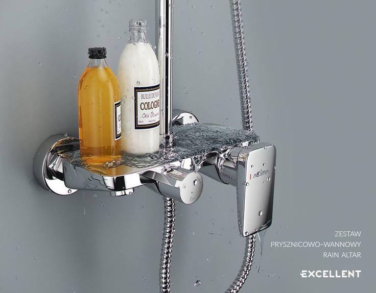 Zestaw prysznicowy Rain Altar to nowoczesne rozwiązanie do łazienek, w których bardzo istotna jest lekkość formy i delikatność detali przy jednoczesnym zachowaniu bardzo wysokiej funkcjonalności.