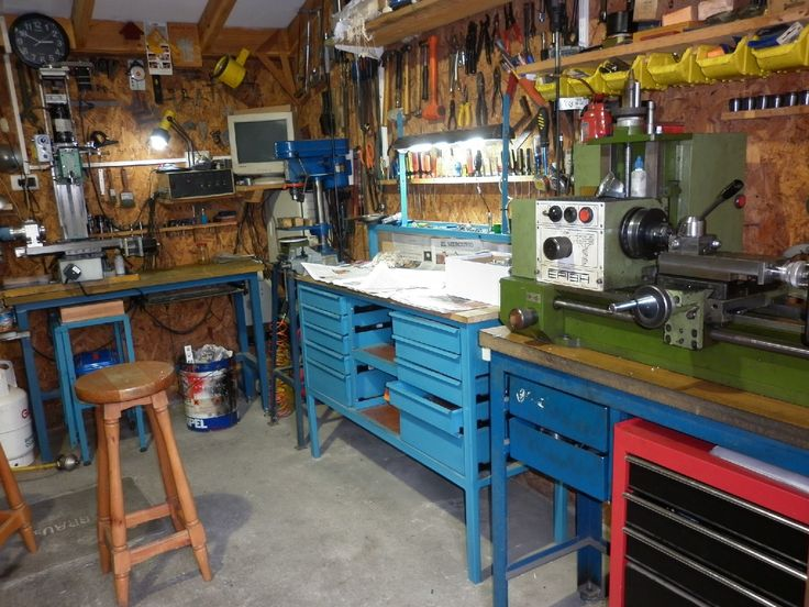 Workshop layout 1 engineering mechanical pinterest for Home garage shop