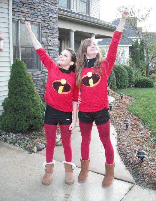 Twin Incredibles | DIY Halloween Costume Ideas